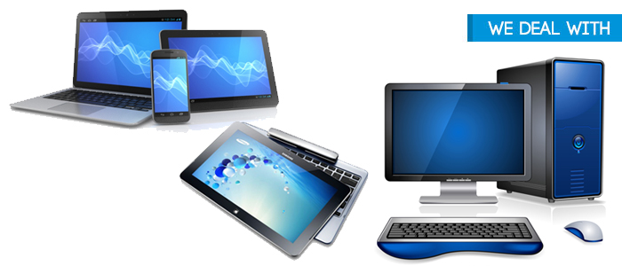 Desktops, Laptops, Tablets
